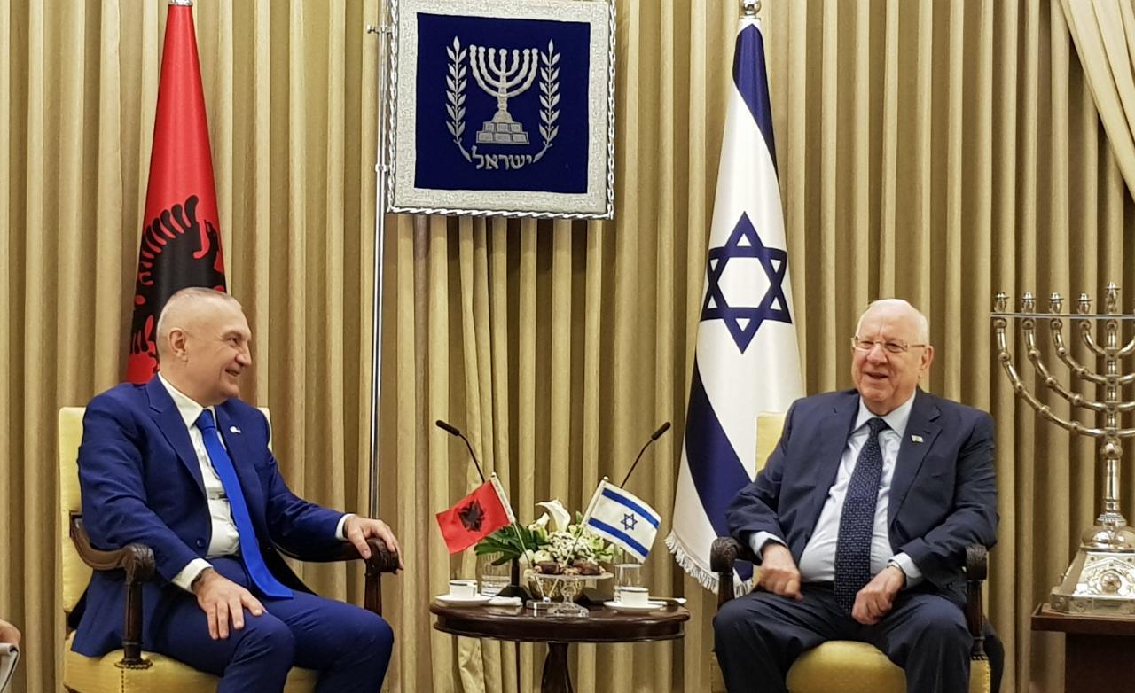 Kreu i shtetit, Ilir Meta pritet nga presidenti izraelit, Reuven Rivlin