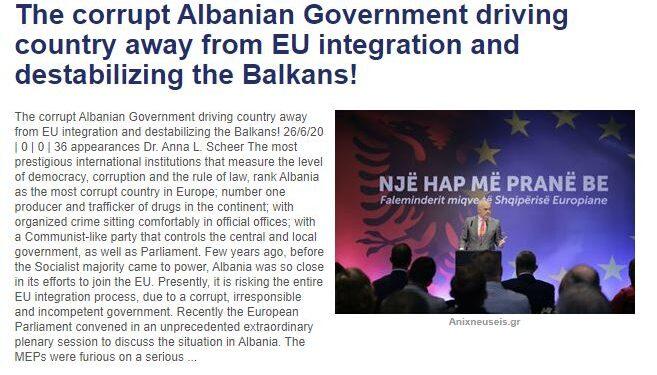 Media greke: Shteti mafioz në Shqipëri po e largon vendin nga Bashkimi Evropian