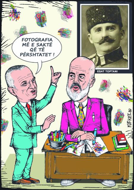 Karikatura/Ngjashmëria e Edi Ramës me Esad Pashë Toptanin