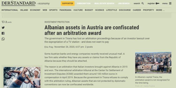 Gjyqet në arbitrazh, Shqipërisë do t'i sekuestrohen pasuritë në bankat e huaja
