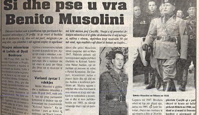 Blendi Fevziu: Si dhe pse u vra Benito Musolini