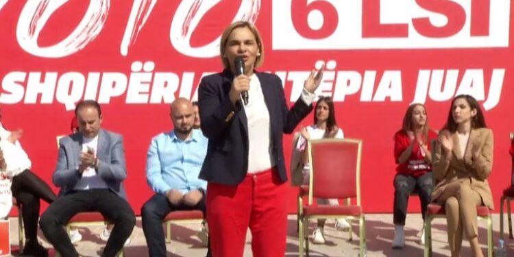 Kryemadhi në njësinë 8 në Tiranë: Socialistët, sot më shumë se kurrë, po bashkohen me LSI